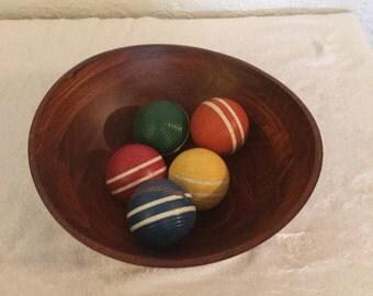 Vintage Cricket Balls / Home Accent