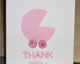 Thank You Baby Cards, 12 Thank You Cards, Baby Shower, Newborn, Congrats, Welcome Baby Cards, new Baby, Baby Girl Cards