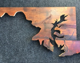 Reclaimed Wood State of Maryland Home Decor