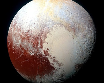 Planet Pluto New Horizons Highest Resolution & Quality Print  Many Sizes Available