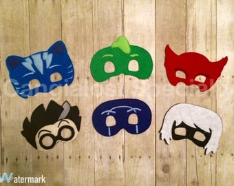 PJ Masks Inspired Masks(All Characters Available)/Child/Adult/Costume/Cosplay/Pretend Play/Party Favor/Halloween Costume/Photo Booth