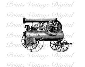 INSTANT DOWNLOAD Printable Digital Image Vintage Antique Machine Vapor 300dpi Clip Art Jpg Png Educational History Wall Decor