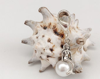 Luxury Ivory Removable Mermaid Stitch Marker Progress Keeper for Knitting and Crochet