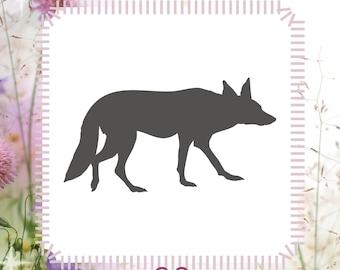Fox Animal Stencil Reusable Craft Stencil