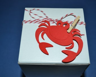 50 Crab Favor Boxes/Favor Boxes/Crab Party Favor Boxes/Party Boxes/Favor Box/Crab