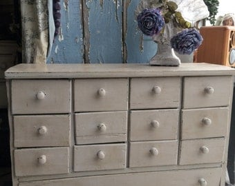 Fabulous old French bank of drawers