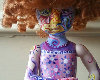 Hand painted, Dianna effner doll, art doll, doll sculpture, small