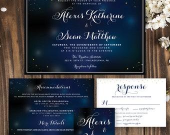 Starry Night Wedding | Starry Night Print | Wedding Invitation | Wedding Invitation Printable | Wedding Invitation Stars | Under the Stars