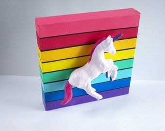 Licorne arc en ciel etsy fr for Decoration licorne chambre