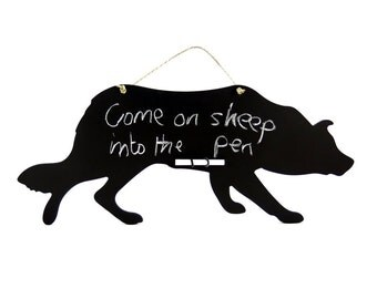 Sheep Dog Chalkboard