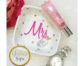 Mrs Ring Dish // Jewelry Dish // Jewelry // Wifey for Lifey // Just Married/ Wedding Gift // Bridal Shower // Engagement Gift