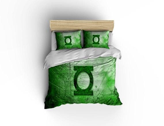 Nice Green Lantern Bedding Green Lantern Logo Duvet Cover Green