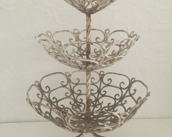 Fabulous Old Vintage Wrought Iron Stand