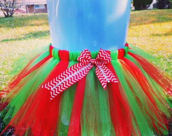 Christmas Red and Green Holiday Tutu