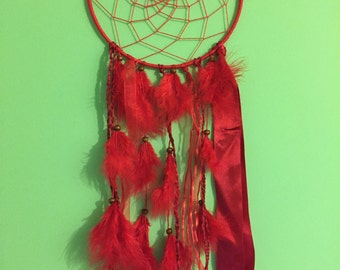 Large Red Dream Catcher