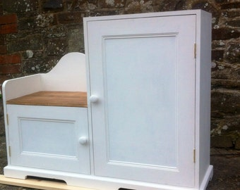 Handmade shoe storage cupboard with bench/seat