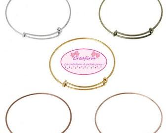 5 bracelets adjustable cane 5 colors