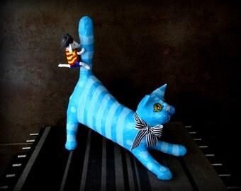 MOUSE and cat in papier-mâché