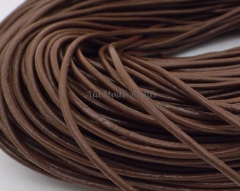2MM Saddle Brown Leather Cord (2 Yards)