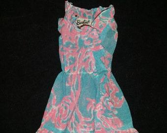Vintage barbie Ruffles n swirls dress