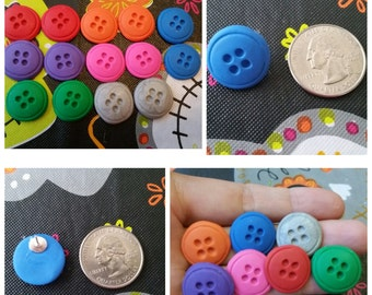 Button Polymer Clay Earrings *Free Shipping*