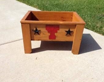 Texas Tech Cedar Planter Box