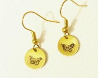 Little brass earrings