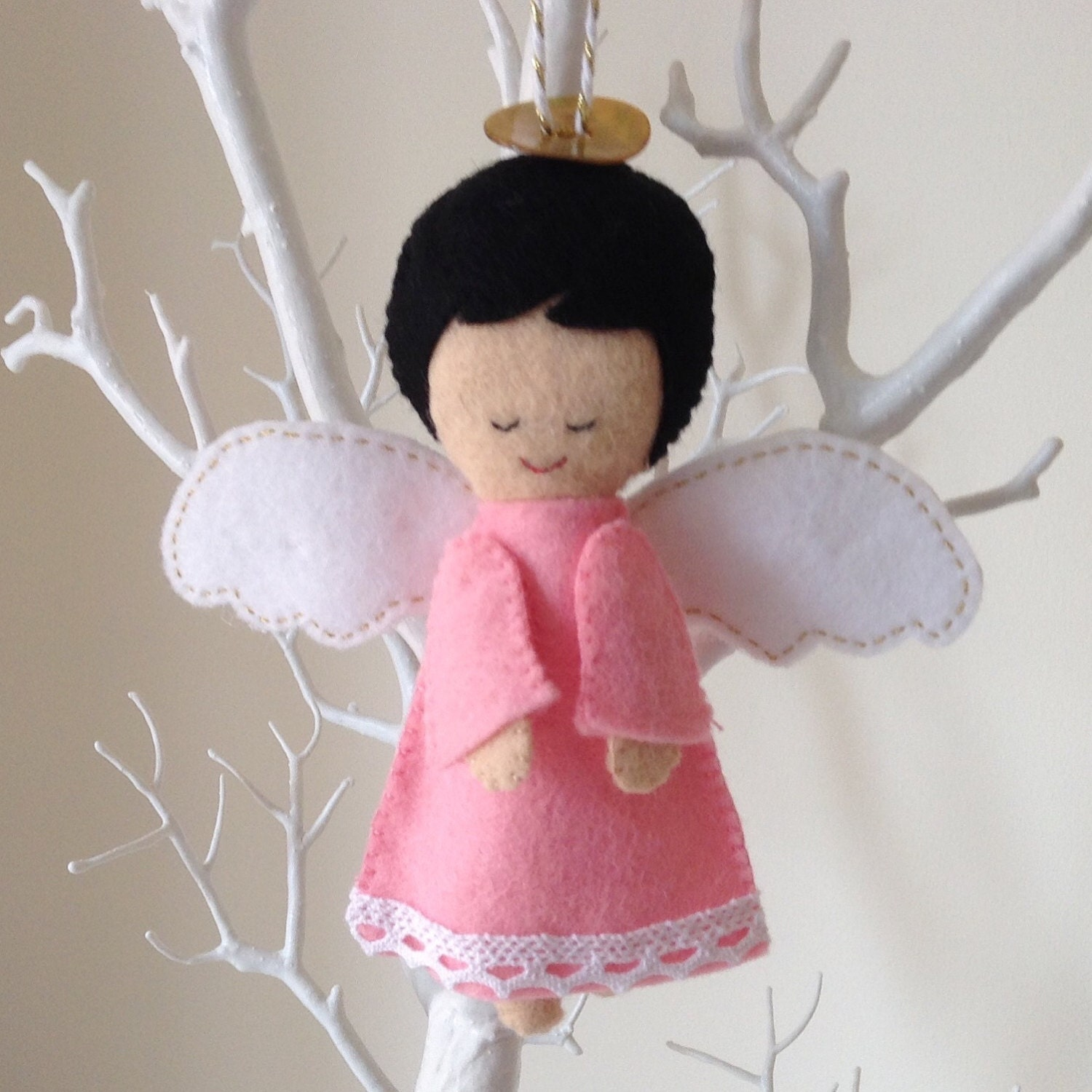 Angel Baby Gifts Uk : Guardian angel ornament unique baby shower gift by bellaandroo