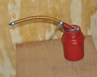 Small Vintage Red Oil Can/Oiler