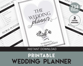 Wedding Planner Printable  -  DIY  Wedding Organizer -  Printable Wedding Planner