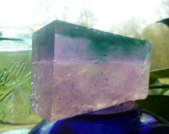 Lavender and lemongrass handmade glycerin soap