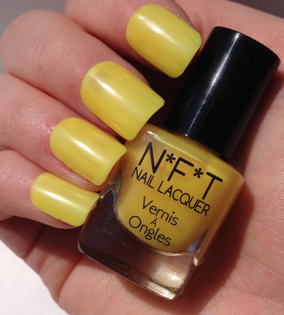 N86 Electric Yellow Neon Nail Polish / Indie Lacquer From