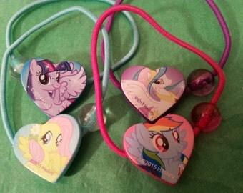 My Little Pony, My Little Pony Hair, My Little Pony Hair Accessory, Princess Twilight Sparkle, Rainbow Dash, Fluttershy, Princess Celestia