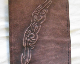 Hand Carved Custom Leather Notebook