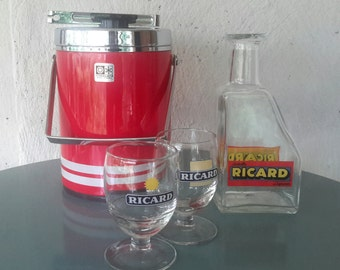 Ricard, separately for sale, Ricard decanter, ice bucket, Ricard collectibles, man cave, Christmas gift, barspullen, ice bucket chrome, Anisette
