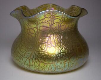 Loetz 1900s Art Nouveau Mimosa vase