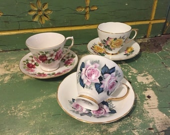 Fine Bone China ~ Cups and Saucers
