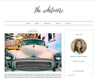 "Blogger Template, Blog Template, Blog Design - ""Whitmore   by Lindsey"" Instant Digital Download"
