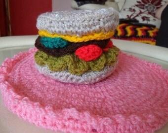 Crochet juicy  beefburger