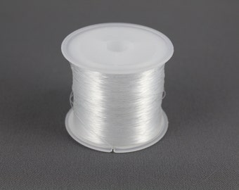 clear nylon wire string  .3mm thick beading craft DIY jewelry making 125m roll thin fishing line