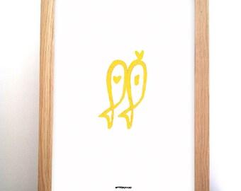 Poster sardine - yellow-