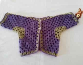 crochet jacket girl