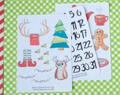 Whimsical Christmas Printables for December Daily or Planner stickers