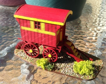 1/48 scale miniature, Ledge Gypsy Caravan, finished model