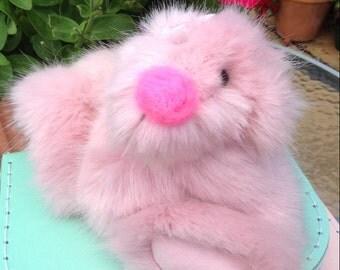 """OOAK, artist bear, pink, 7"""", Botany Bear"""