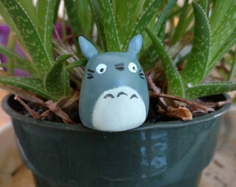 Totoro (and friend) figurines