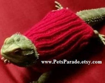 Bearded Dragon Sweaters, Hamster Clothes,  Hamster Sweater, Guinea Pig Clothes, Beardie Clothing, Hamster, Rabbit, Pet Clothing