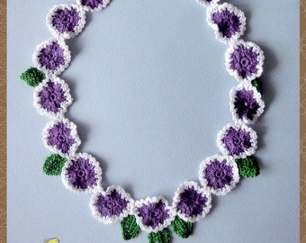 """Necklace """"Pansies"""""""