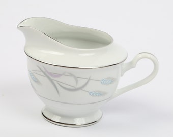 "Vintage 1940's Valmont China, Japan,  Royal Wheat, Creamer, Excellent VTG Condition, 3-3/4"" H X 5-1/8"" From Spout to Outside Handle."