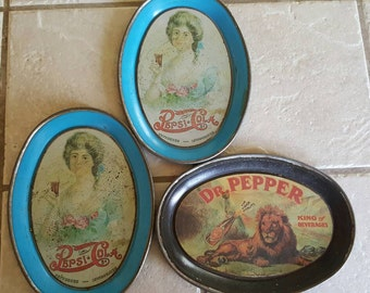 1970s mini Pepsi Cola trays
